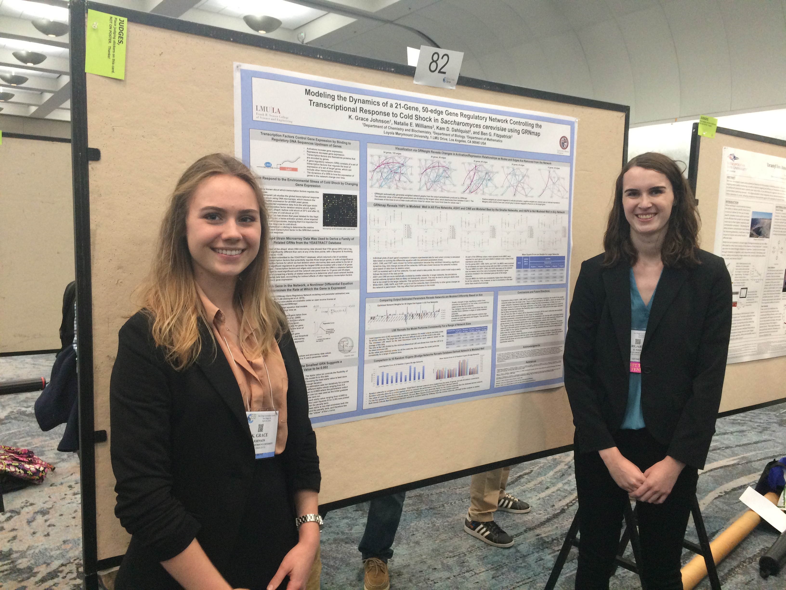 Grace Johnson and Maggie O'Neil at 2016 Experimental Biology Conference
