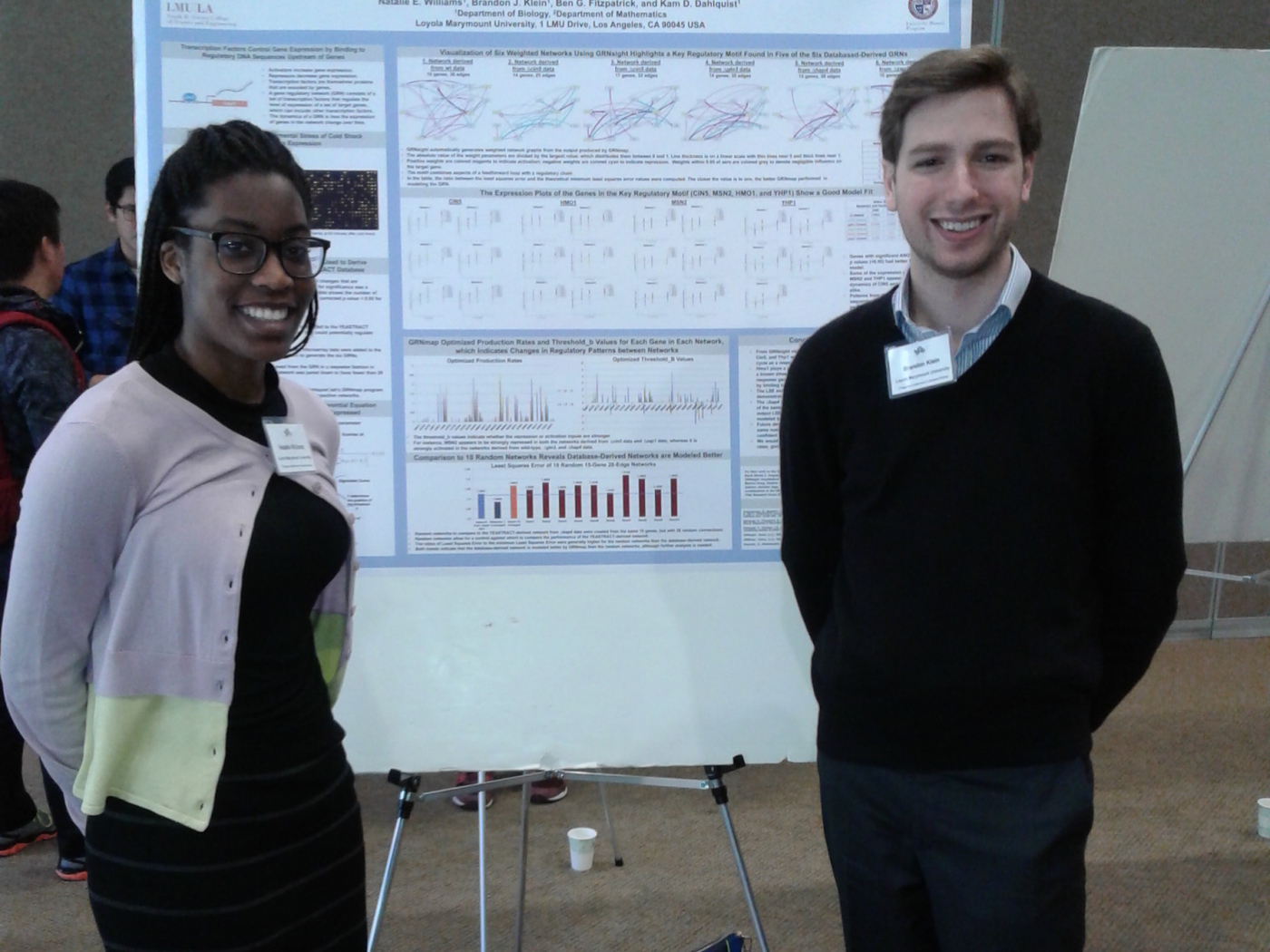 Natalie Williams and Brandon Klein at 2017 Sourthern California Systems Biology Conference